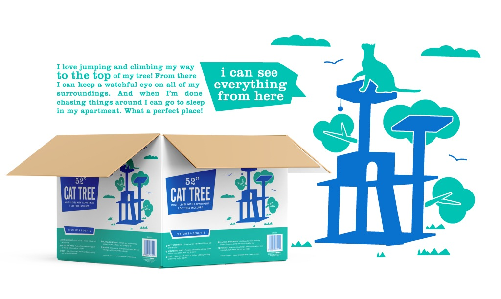Frisco Branding - Cat Tree Packaging Design
