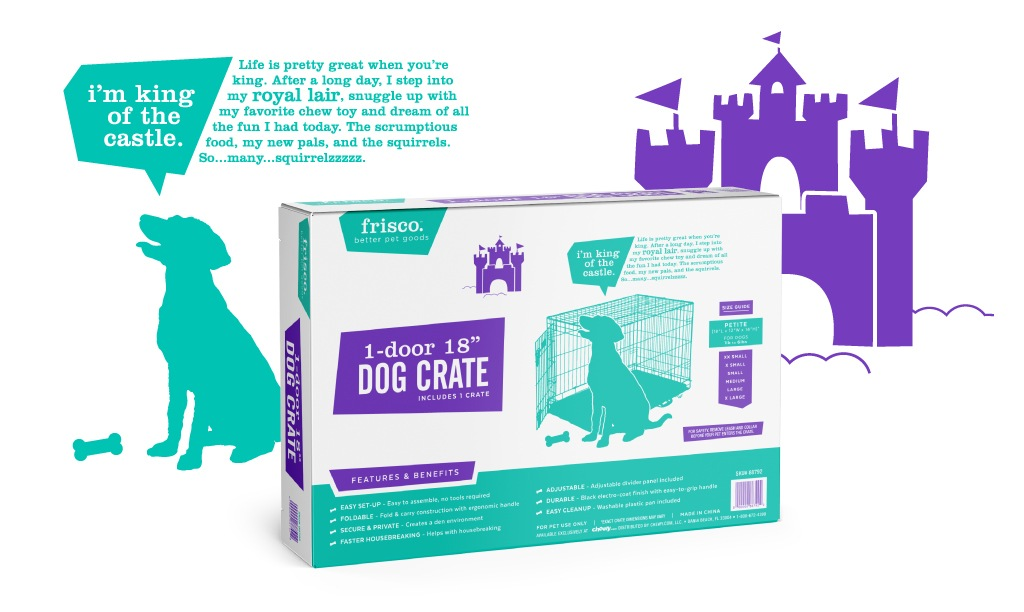 Frisco Branding - Dog Crate Packaging Design