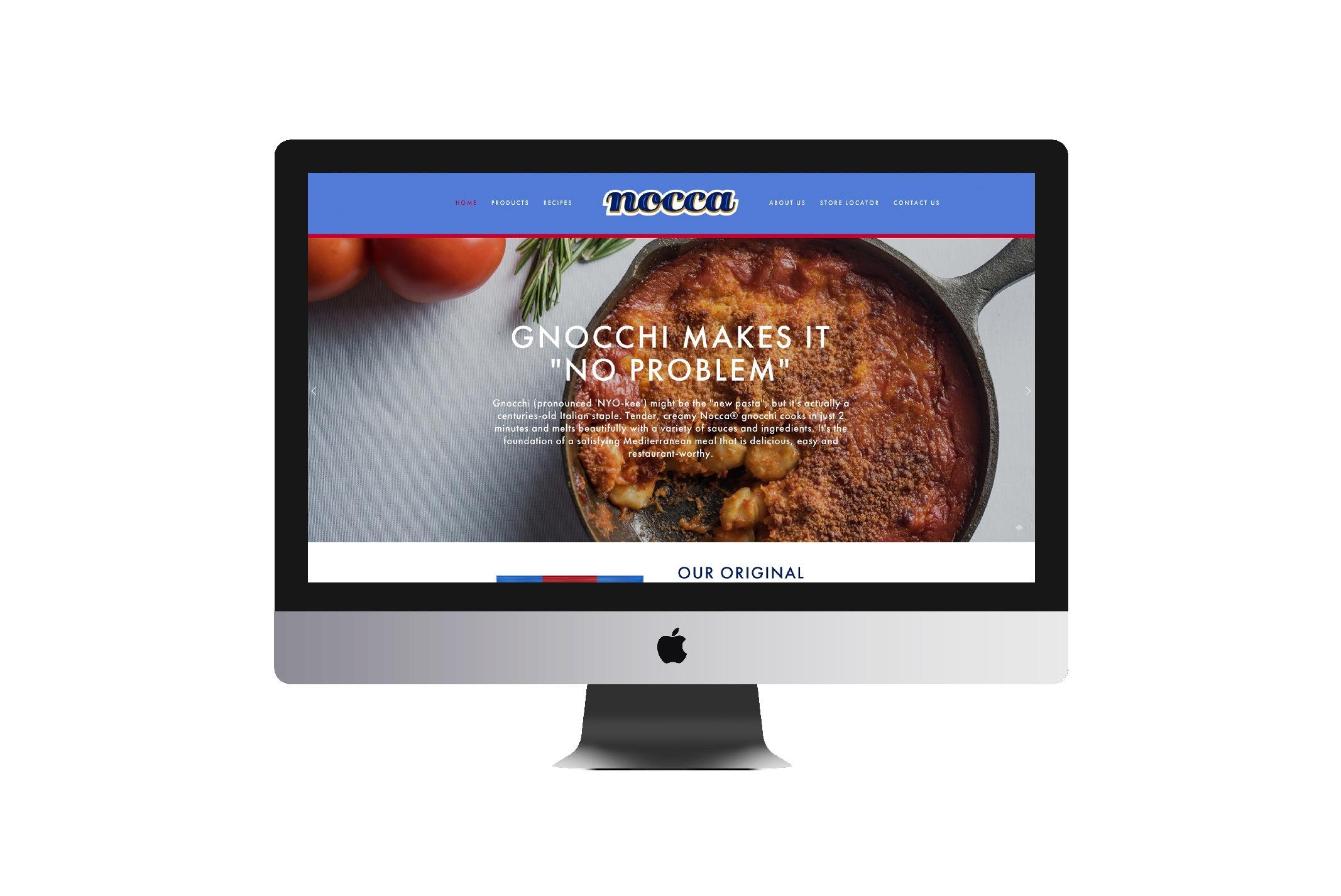 Nocca Pasta Brand Website