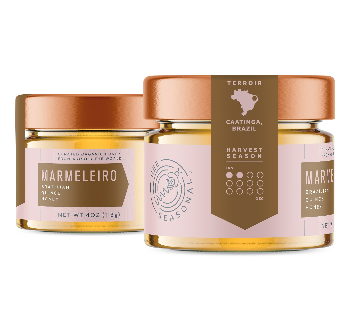 Bee Seasonal Honey Packaging Design