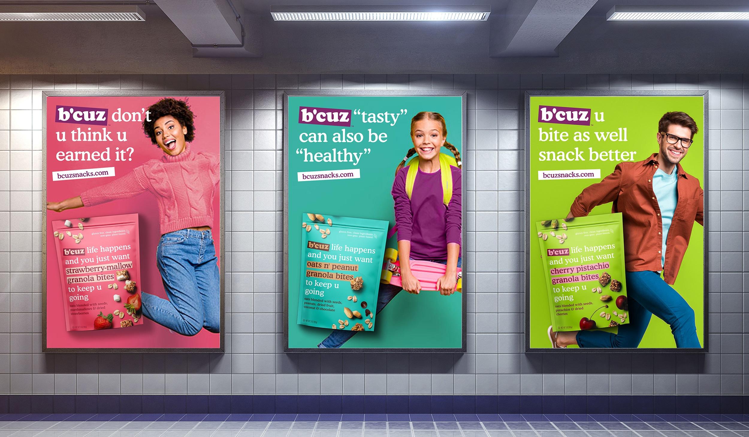 B'Cuz Branding Ad Campaign