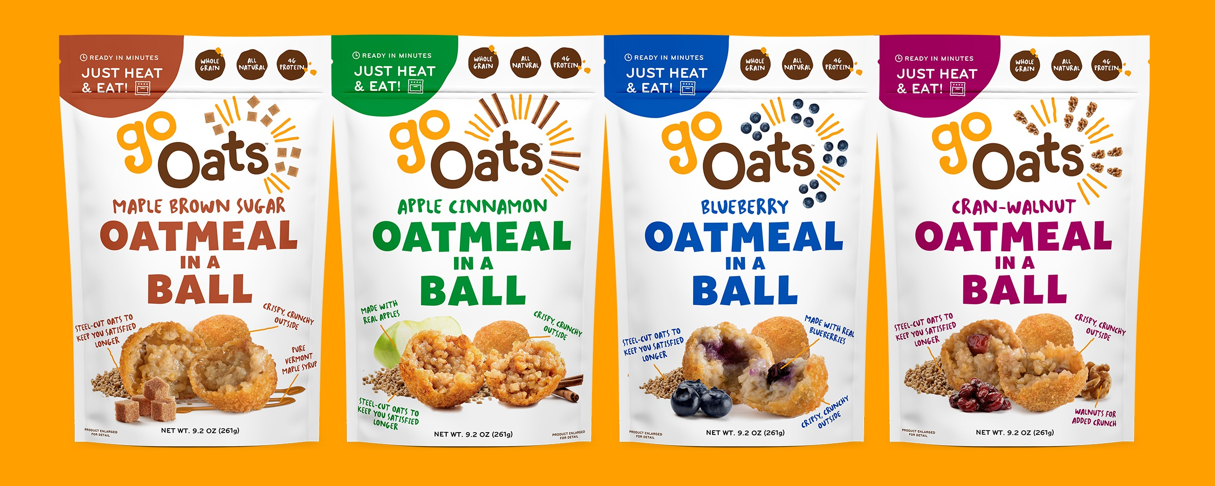GoOats Branding and Packaging Design - as seen on Shark Tank