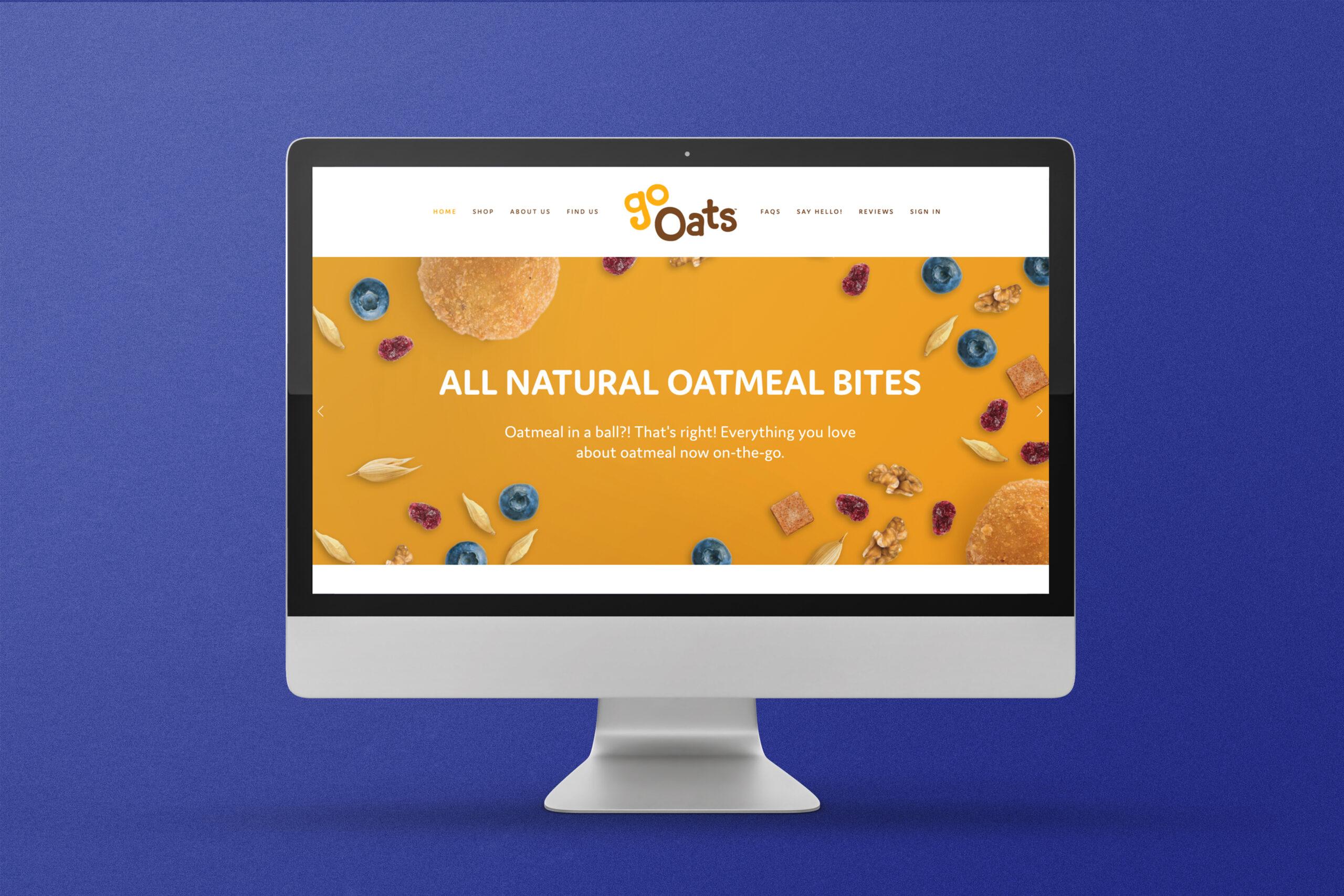 GoOats Branding and Packaging Design - Web Design